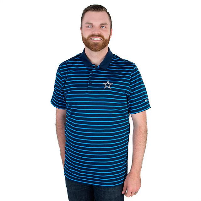 Dallas Cowboys Nike Golf Icon Stripe Polo