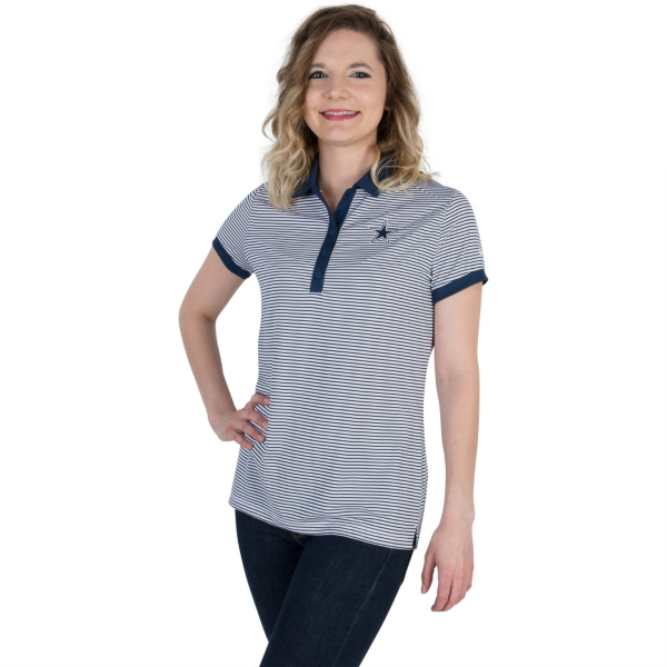 Dallas Cowboys Womens Nike Golf Victory Stripe Polo