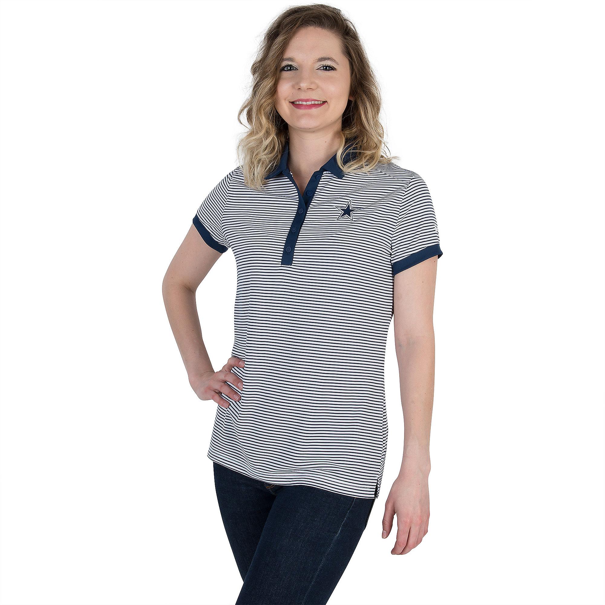 Dallas Cowboys Womens Nike Golf Victory Stripe Polo