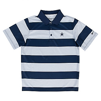 Dallas Cowboys Nike Golf Boys Bold Stripe Polo 3cf81c171