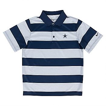 Dallas Cowboys Nike Golf Boys Bold Stripe Polo