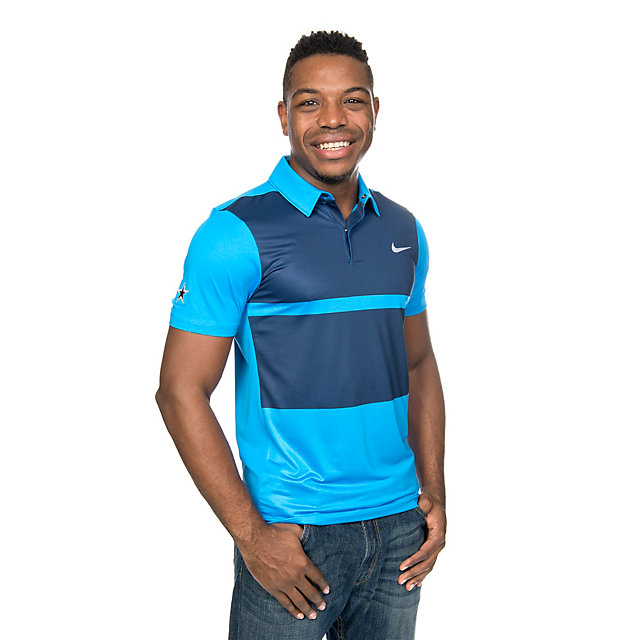 Dallas Cowboys Nike Golf Momentum Fly Framing Block Polo