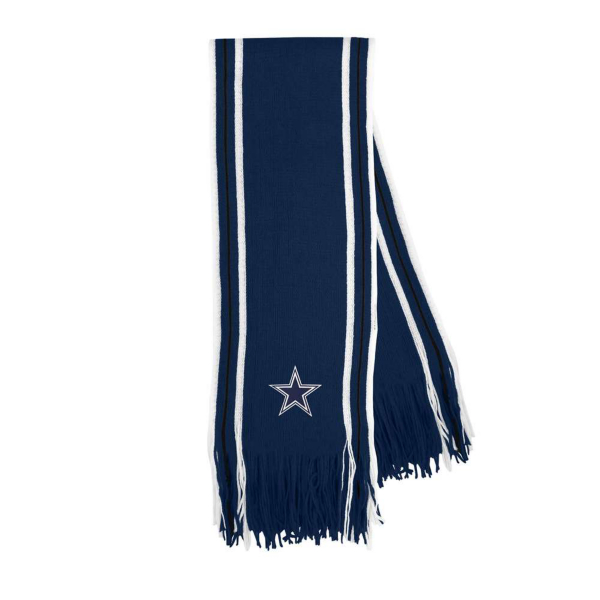 Dallas Cowboys Stripe Fringe Scarf
