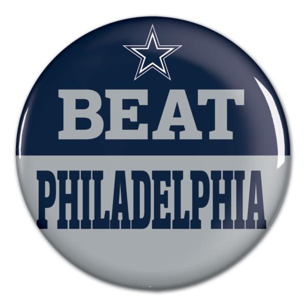 Dallas Cowboys Beat Philadelphia Button