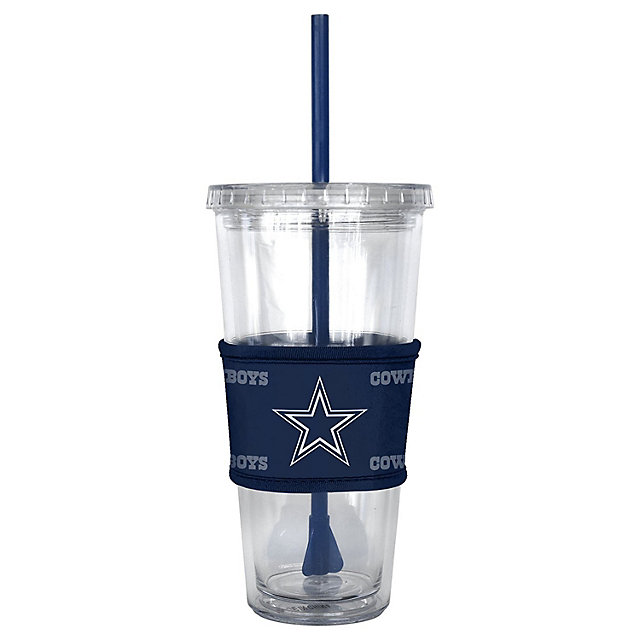 Dallas Cowboys Tonal Sleeved Straw Tumbler