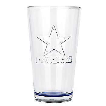 Dallas Cowboys 16 oz Embossed Pint Glass