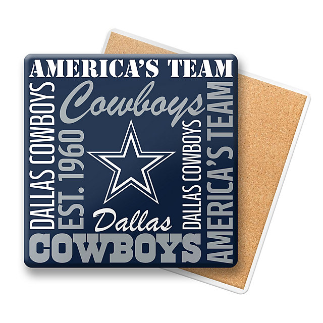 Dallas Cowboys Stainless Steel Coasters 4 Pack: Home & Office