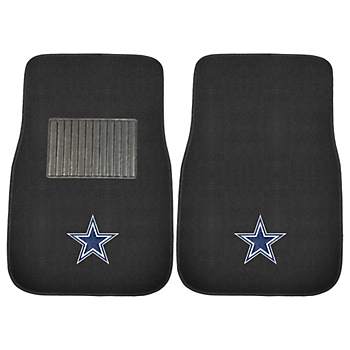 Dallas Cowboys Embroidered Carpet Car Mat Set