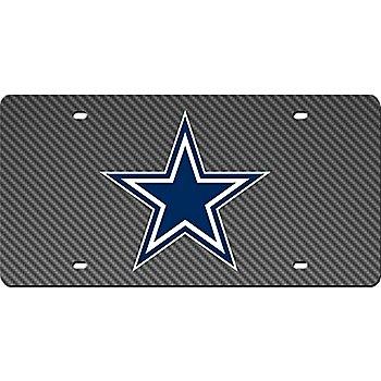 Dallas Cowboys Carbon Fiber License Plate