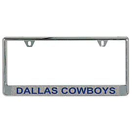 Dallas Cowboys Silver Glitter License Plate Frame