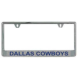 Dallas Cowboys Silver Glitter License Plate Frame