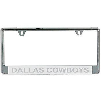 Dallas Cowboys Silver Matte Frost License Plate Frame