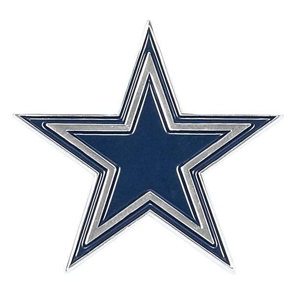 Dallas Cowboys Chrome Metal Star Emblem