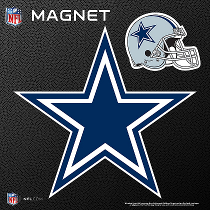 Dallas Cowboys Star And Helmet Magnets Automotive Accessories
