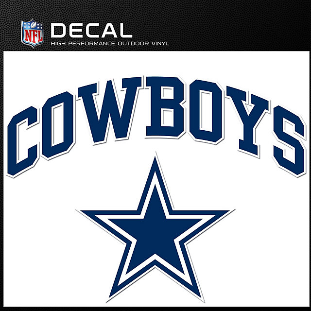 Dallas Cowboys Arched Decal Accessories Dallas Cowboys