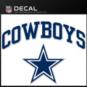 Dallas Cowboys Arched Decal