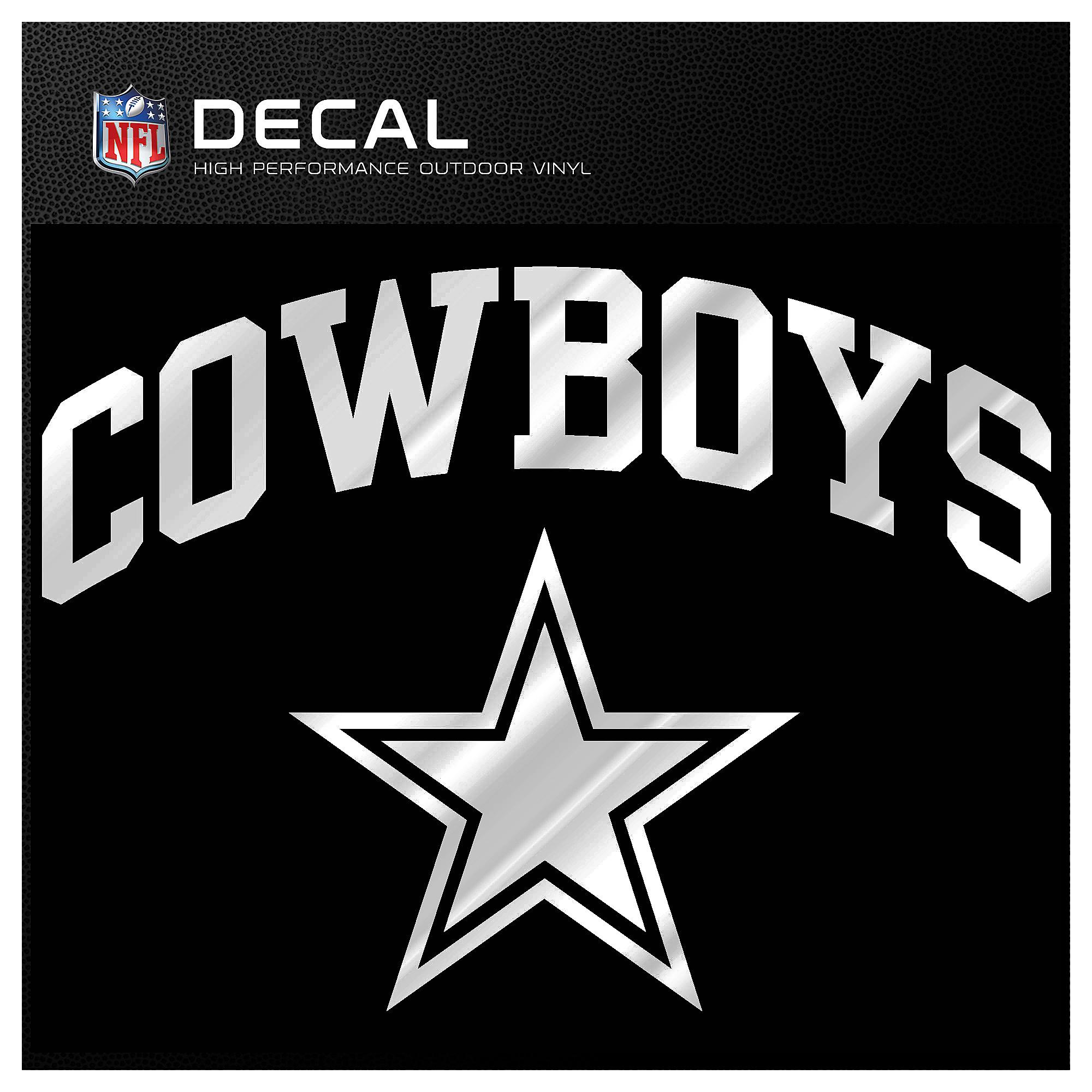 Dallas Cowboys Metallic Arched Cowboys Decal