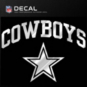 Dallas Cowboys Metallic Arched Cowboys Decal