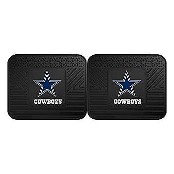 Dallas Cowboys Heavy Duty Vinyl Rear Car Mats - Set of 2