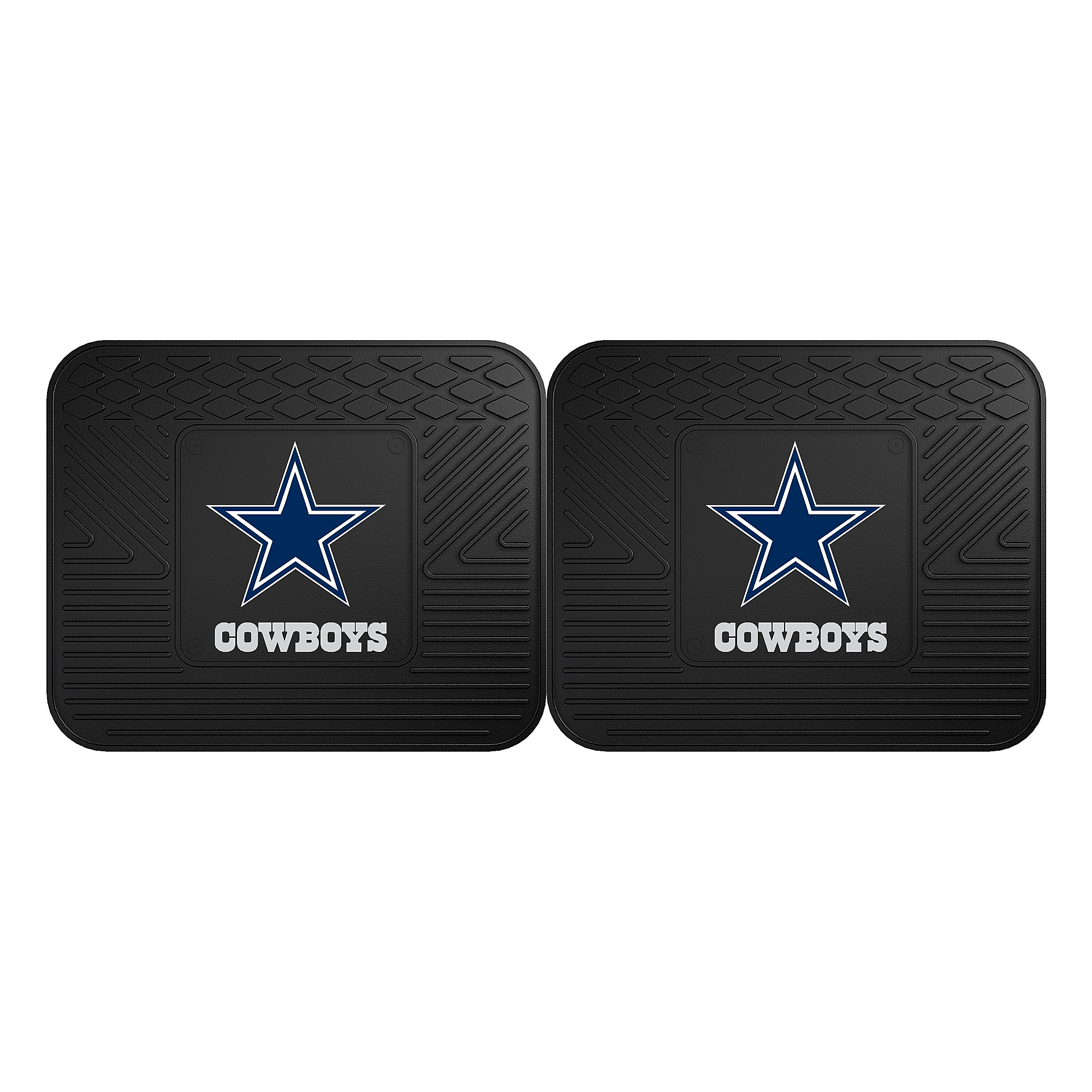 Dallas Cowboys Heavy Duty Vinyl Rear Car Mats - Set of 2