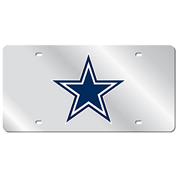 Dallas Cowboys Blue Acrylic Logo Mirror License Plate