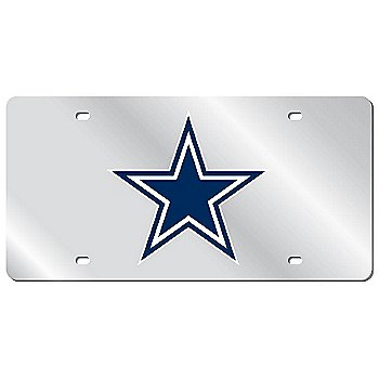 Dallas Cowboys Blue Acrylic Logo Mirror License Plate
