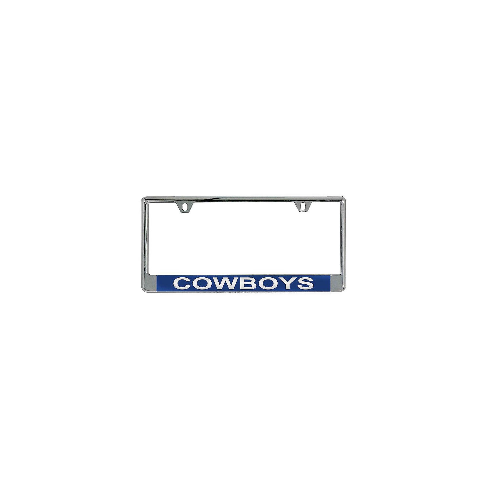 Dallas Cowboys Blue Acrylic License Plate Frame