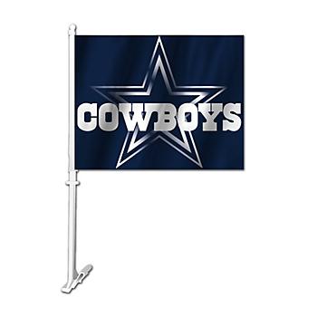 Dallas Cowboys Metallic Star 2-Sided Car Flag