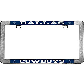 Dallas Cowboys Thin Rim Metal License Plate Frame