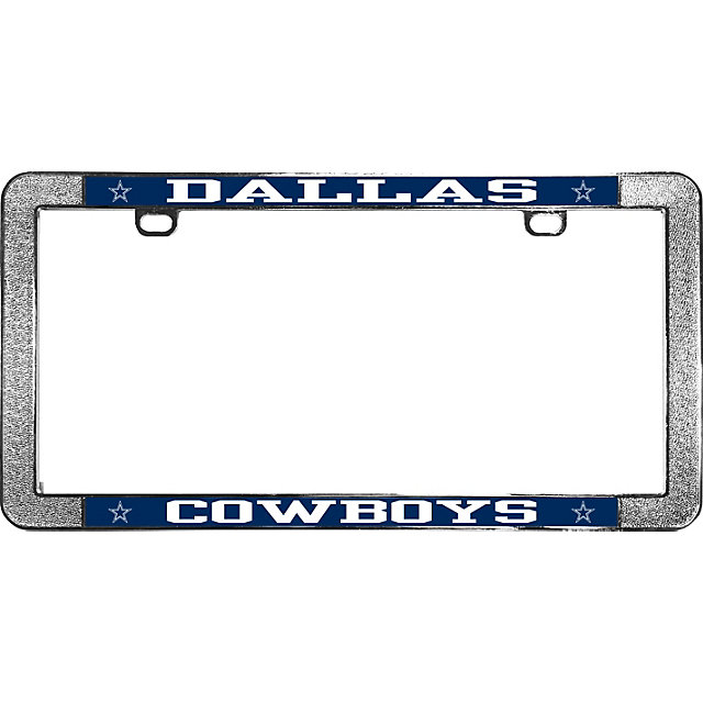 dallas cowboys thin rim metal license plate frame automotive accessories cowboys catalog dallas cowboys pro shop