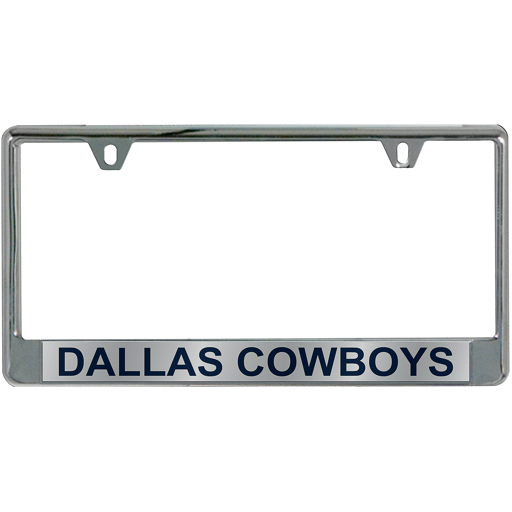 Dallas Cowboys Mirror with Blue Letters License Plate Frame