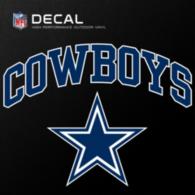 Dallas Cowboys 8x8 Arched Decal