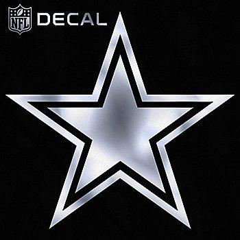 Dallas Cowboys 6x6 Metallic Decal