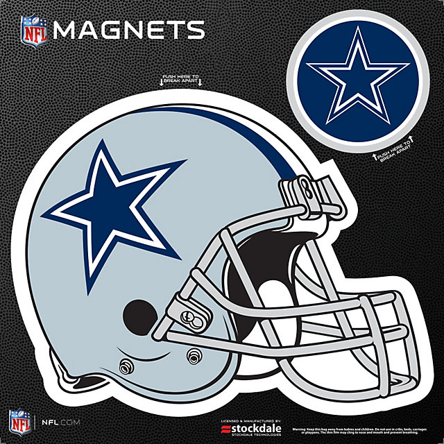 Dallas Cowboys 8x8 Helmet/Logo Magnet