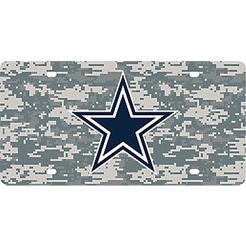 Dallas Cowboys Camo License Plate