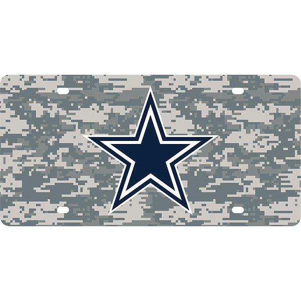 Dallas Cowboys Camo License Plate
