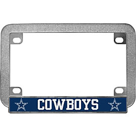 Dallas Cowboys Metal Motorcycle License Plate Frame