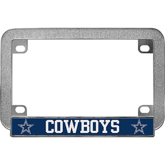dallas cowboys metal motorcycle license plate frame automotive accessories cowboys catalog dallas cowboys pro shop - Motorcycle Licence Plate Frame
