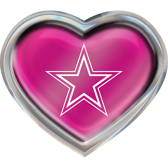 Dallas Cowboys Pink Heart Emblem