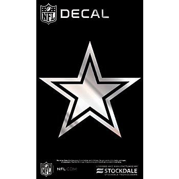 Dallas Cowboys 3x5 Metallic Star Decal