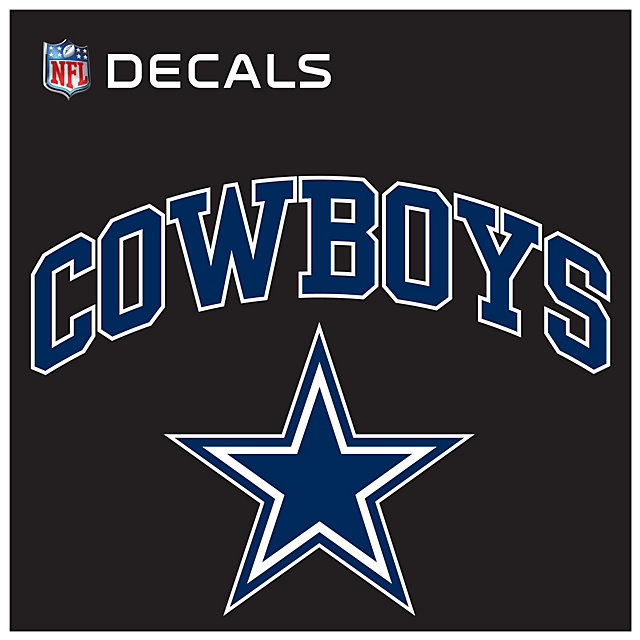 Dallas Cowboys 12x12 Arched Decal