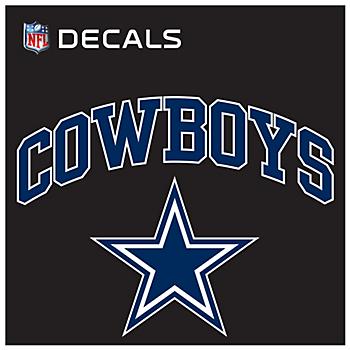 Dallas Cowboys 12x12 Arched Decal