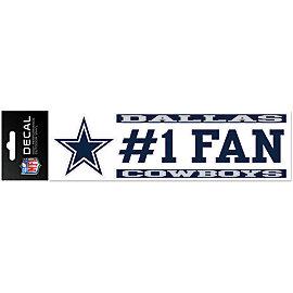 Dallas Cowboys 3x10 #1 Fan Decal Strip