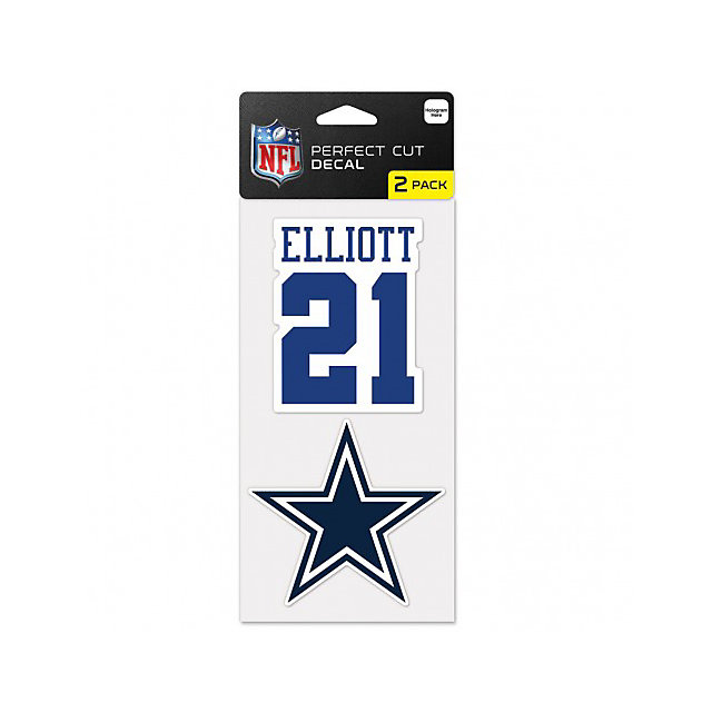 Dallas Cowboys Ezekiel Elliott 2-Pack Perfect Cut Decal