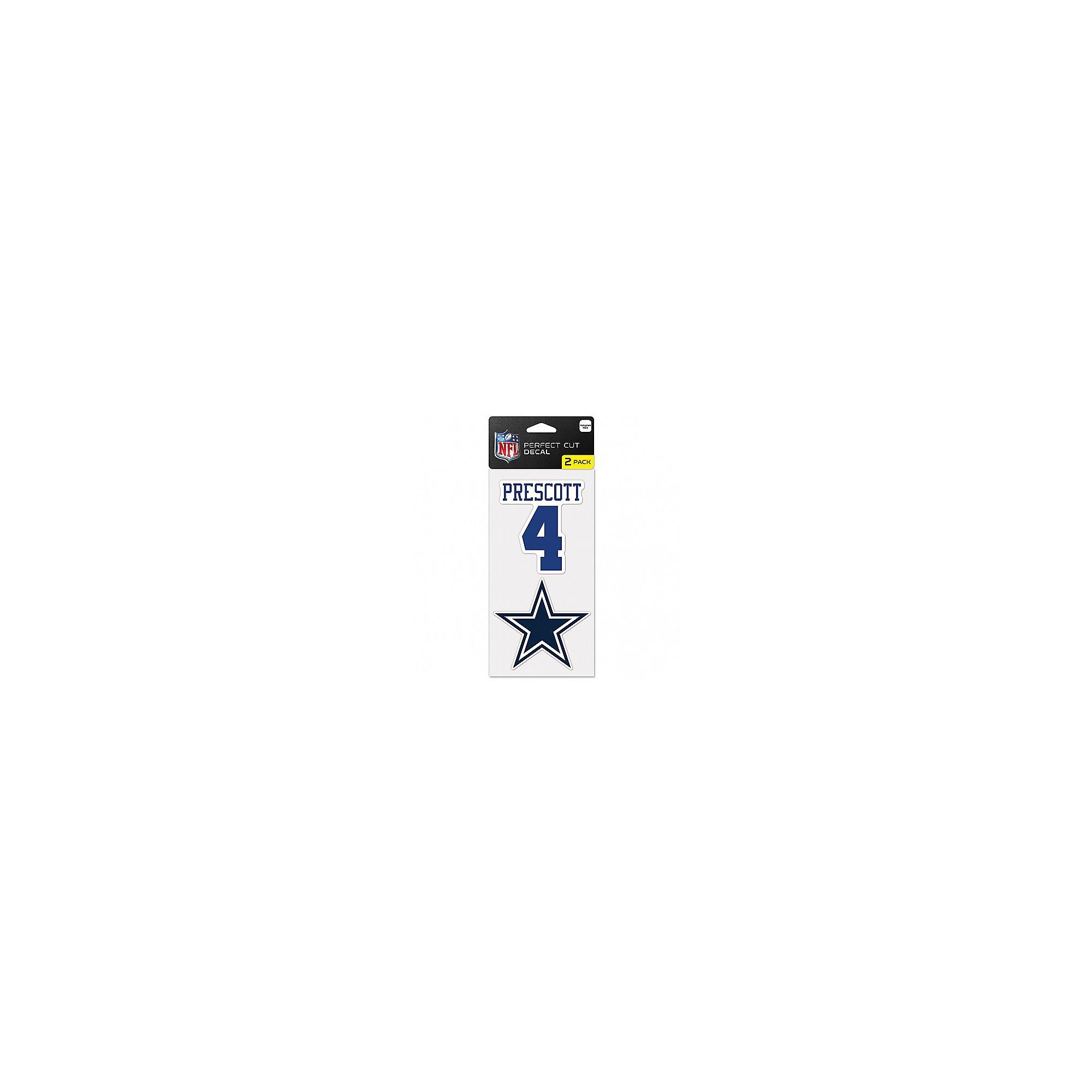 Dallas Cowboys Dak Prescott 2-Pack Perfect Cut Decal