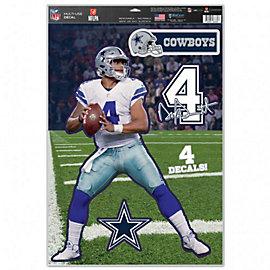 Dallas Cowboys 11 x 17 Dak Prescott Multi-Use Decal