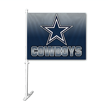 Dallas Cowboys Ombre Car Flag
