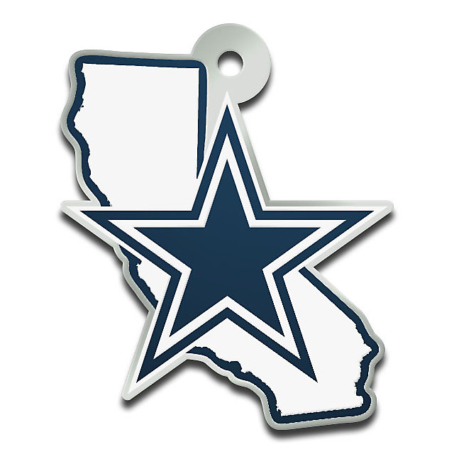 Dallas Cowboys Metallic California Keychain