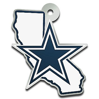 Dallas Cowboys Metallic California Keychain