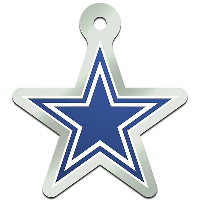 Dallas Cowboys Metallic Freeform Keychain